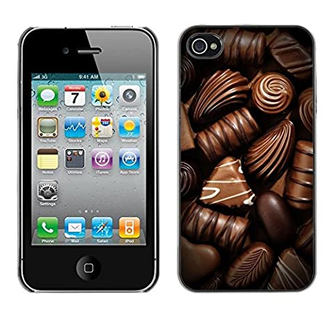 FlareStar Colour Printing Chocolate Sweet Candy Brown Food Plastic Case Cover Shell for Apple iPhone 4 / iPhone 4S / (Iphone 5s Speck Candy Case)