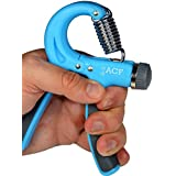 ACF Hand Grip Strengthener Strength Trainer Adjustable Resistance 22-88 Lbs Best Hand Exerciser Gripper or Ball Set
