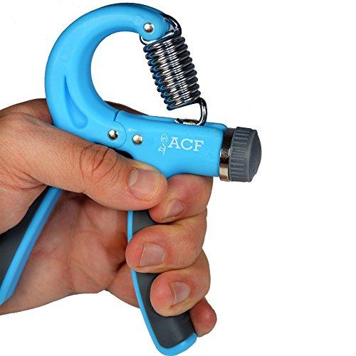 ACF Hand Grip Strengthener Strength Trainer Adjustable Resistance 22-88 Lbs Best Hand Exerciser Gripper or Ball Set