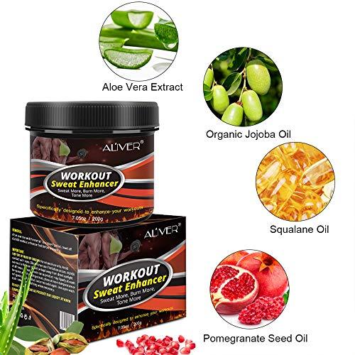 Sweat Cream Weight Loss Fat Burner for Women,Fitness Cream,Sweat Cream for Weight Loss, Fat Loss, Muscle Gain, Etc. 6
