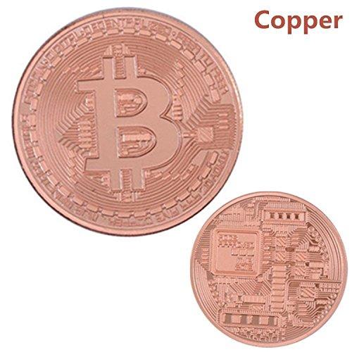 1pc Bitcoin Fine Copper Metal Souvenir Coin Commemorative Coin