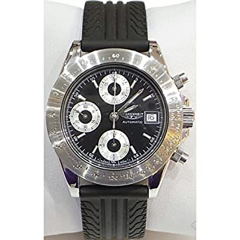 Uhr Fahrenheit Herren fa1200 Schalter Stahl Quandrante schwarz Armband Gummiarmband '