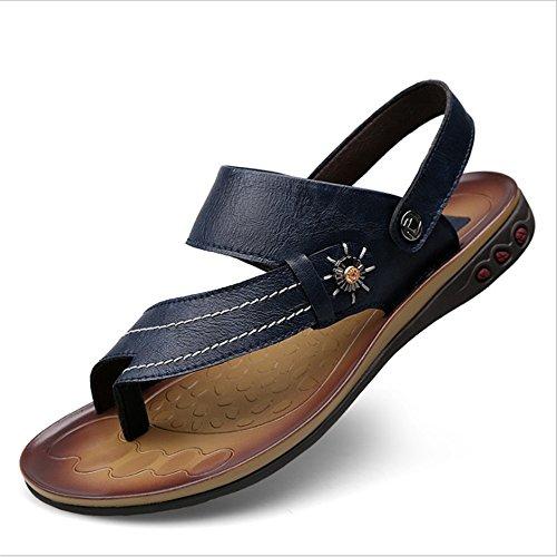 5 spiaggia Blu Da Blu 5 CM Scarpe Sandali Casual Business 28 Spiaggia Scarpe In Wagsiyi Da Casual da Pelle pantofole Uomo 23 p6qAwA