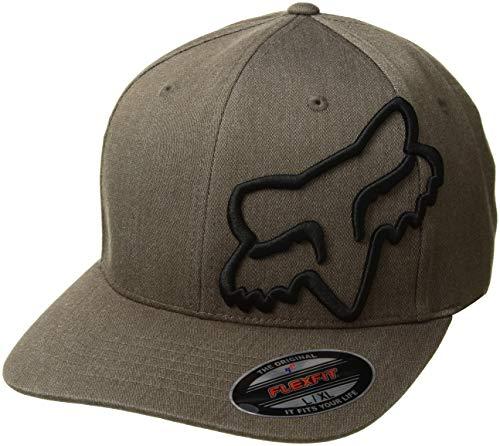 Fox Men's Clouded Flexfit HAT, bark, L/XL
