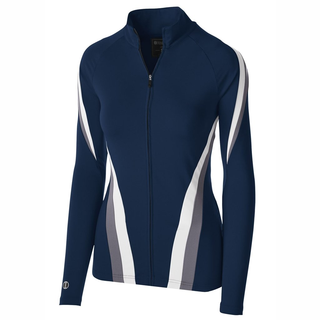 Holloway Dry Excel Girls Aerial Semi Fitted Jacket (X-Large, Navy/Graphite/White) by Holloway