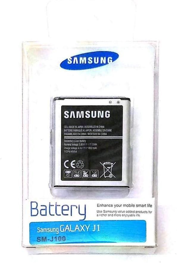 Batería de Ion de Litio para Samsung Galaxy J1 SM-J100H (1850 mAh, 3,8 V, 7,13 WH, Ind, suministrada en Bolsa de plástico)