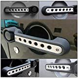 White Jeep Handle Inserts Grab Handle Knobs Cover