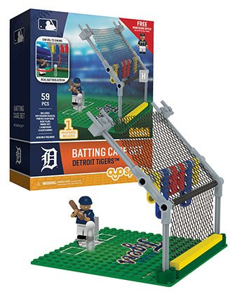 Oyo Sportstoys MLB Detroit Tigers Batting Cage Set with Minifigure, Small, White
