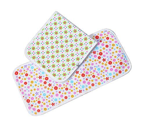 Baby Burp Cloths, Premium Quality, 4 Pack Exclusive Unisex Design, Large Size 21''x10'', 100% Organic Cotton, Thick & Absorbent, Triple Layer, Super Soft, Burping Rags for Newborns, Gift Set by Vio by Vio (Image #8)