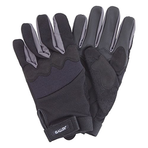 Allen Creede Handgun Shooting Gloves, Touchscreen Fingers, Black/Gray