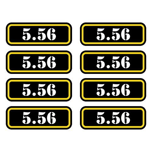 """Ammunition Ammo Can Labels 2 pack 3/"""" Vinyl Stickers 5.56 BOLT Ammo Can Decals"""