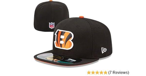 Amazon.com   New Era NFL Mens Cincinnati Bengals On Field 5950 Game Cap    Sports Fan Baseball Caps   Clothing ae2f639fb5ae