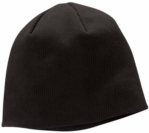 ECOnscious 100% Organic Cotton Thin Rib Beanie (Black)