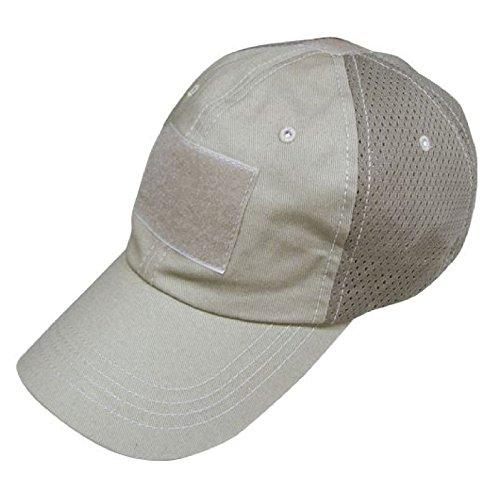 - CONDOR Mesh Tactical Cap (Tan, One Size Fits All)