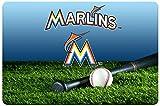 GameWear Miami Marlins Baseball Pet Bowl Mat, Large