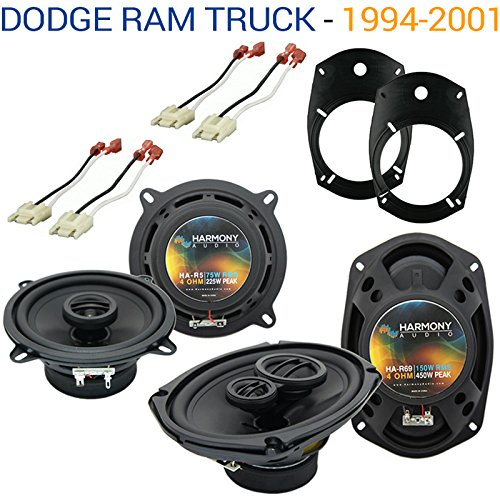 Fits Dodge Ram Truck 1994-2001 Factory Speaker Upgrade Harmony R69 R5 Package New