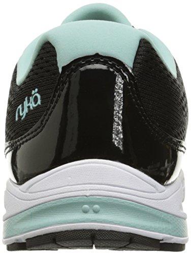 Ryka Womens Revere Walking Shoe Nero / Menta