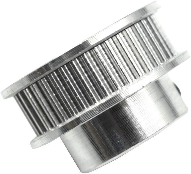 2pcs TUOREN GT2 40 6.35mm Bore Timing Belt Pulley Flange Wheel Aluminum for 3D Printer