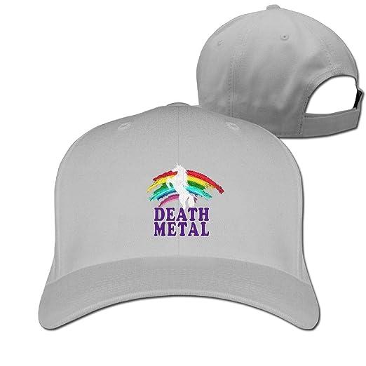 f3cac7b303011 Baseball Caps Death Metal Unicorn Rainbow Golf Dad Hat Man Womans Vintage  Snapbacks Hats Ash at Amazon Men s Clothing store