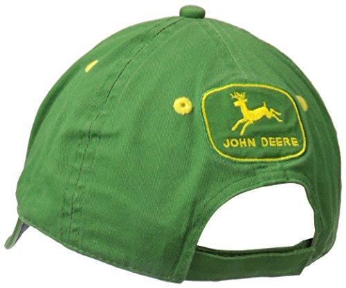 John Deere Logo Vintage Baseball Hat - One-Size - Men's Green, One Size