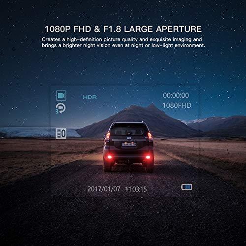 APEMAN Full Driving Recorder 170° Wide Angle, G-Sensor, Loop Vision