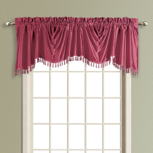 (United Curtain Anna Austrian Valance, 108 by 31-Inch, Burgundy)
