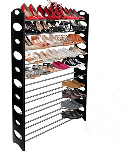 Shoe Rack Storage Bench Shelf Organizer Box Stand for Walk In - The Stores Mall In Short Hills