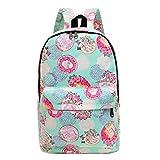 #5: Urmiss Graffiti Printed Canvas Casual Backpack Travel Shoulder Bag Students Schoolbag College Rucksack