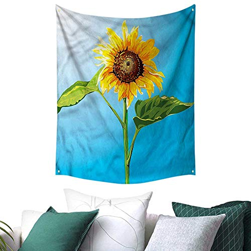 (sunsunshine Sunflower Wall Tapestry Harvest Summer Season 57W x 74L INCH,Home Decorations for Living Room)