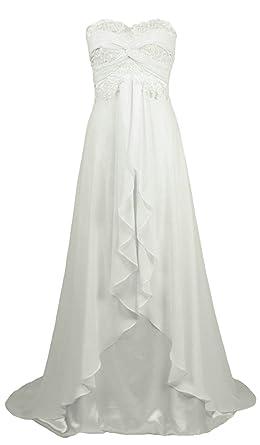 Casual Beach Wedding Dresses.Zorayi Women S Chiffon Casual Beach Wedding Dress Bridal