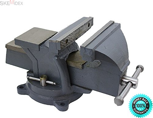 "SKEMIDEX---6"" Bench Vise Clamp Tabletop Vises Swivel Locking Base Work Bench Top anvil And clamp on vise harbor freight trigger clamps home depot bench vise vise grip clamps bar clamps c clamp lowes"
