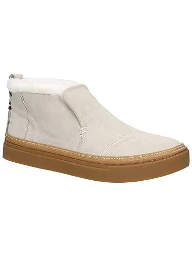 147c68e47ead TOMS Women s Paxton Water-Resistant Slip-Ons Birch Suede Faux Fur 5 B
