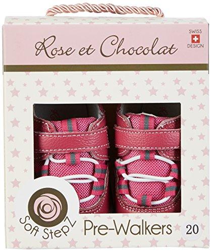 Rose & Chocolat Baby Mädchen Trainers Fuchsia Krabbel-& Hausschuhe, Pink (Fuchsia), 19 EU