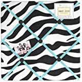 Turquoise Funky Zebra Fabric Memory/Memo Photo Bulletin Board by Sweet Jojo Designs