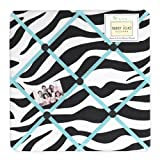 Turquoise Funky Zebra Fabric Memory/Memo Photo Bulletin Board by Sweet Jojo Designs