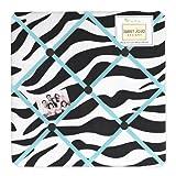 Sweet Jojo Designs Turquoise Funky Zebra Fabric Memory/Memo Photo Bulletin Board