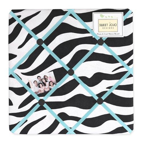 Sweet Jojo Designs Turquoise Funky Zebra Fabric Memory/Memo Photo Bulletin Board by Sweet Jojo Designs