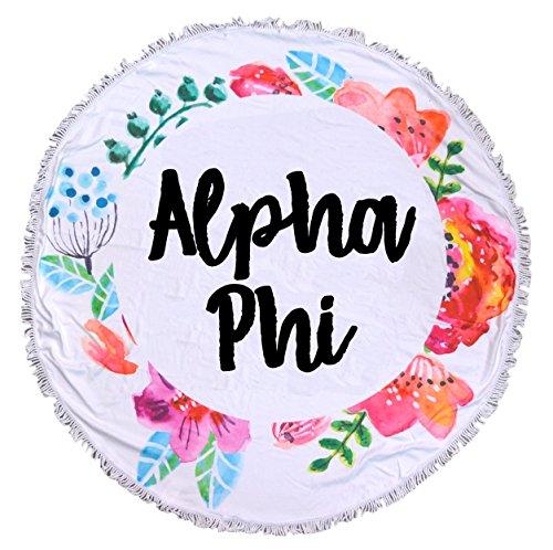 Alpha Phi - Fringe Towel - (Alpha Blanket)