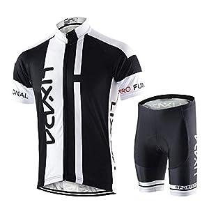 51tm0heOPHL. SS300 Lixada Abbigliamento Ciclismo Uomo Set Camicia da Ciclismo a Maniche Corte Traspirante Quick-Dry e Pantaloncini…