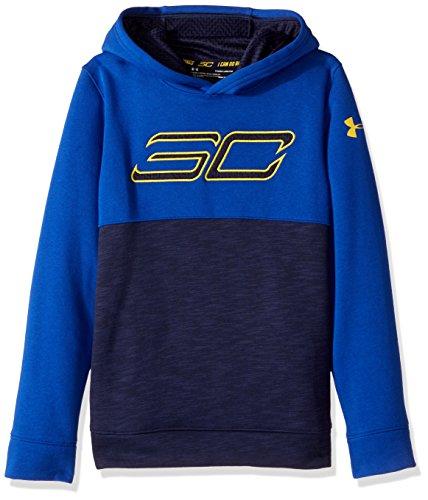 Under Armour Boys' SC30 Fleece Logo Hoodie,Midnight Navy /Taxi, Youth X-Large
