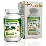 Organic Curcumin (Turmeric) with Bioperine® for more bioavailable, 120 Vegetarian Capsules, 500mg, No binders, No Fillers, No additives, from Dr. Danielle