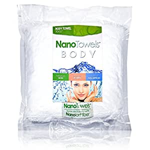 """Nano Towels Body Bath & Shower Towel. Huge & Super Absorbent. Wipes Away Dirt, Oil and Cosmetics. Use As Your Sports, Travel, Fitness, Kids, Beauty, Spa Or Salon Luxury Towel. 30 x 55""""."""
