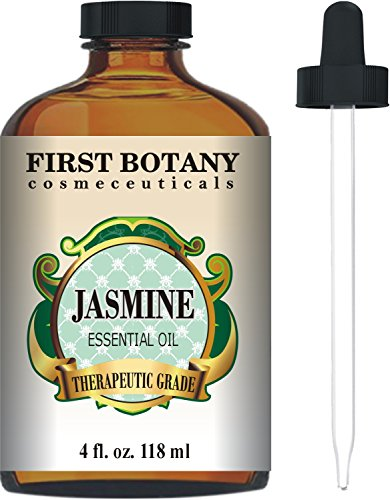 Jasmine Oil 4 fl. oz. With a Glass Dropper - Premium Quality & Therapeutic Grade - Ideal for Aromatherapy & Maintaining Healthy - Jasmine Perfume Night Blooming