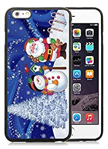 2014 Latest iPhone 6 Plus Case,Christmas snowman Black iPhone 6 Plus 5.5 TPU Case 21 wangjiang maoyi