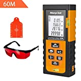 196ft Laser Measure - Morpilot Laser Tape Measure with Target Plate & Enhancing Glasses, Laser Measuring Device with Pythagorean Mode, Measure Distance, Area, Volume Calculatio (196ft)