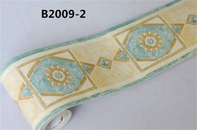 YIDIANYUAN Frise Murale Autocollant Rose10cmX10m PVC /étanche Frise Murale adh/ésive D/écoration Murale