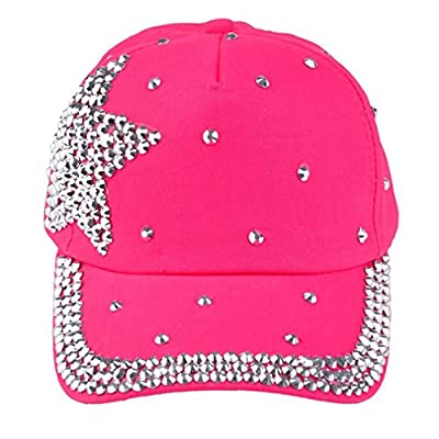 Baby Baseball Cap Rhinestone Star Shaped Boy Girl Snapback Hat Cute Hat from Caplynn