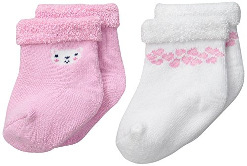 Gerber Baby-Girls Terry Socks, Leopard, 0-6 Months (Pack of (Infant Terry Socks)