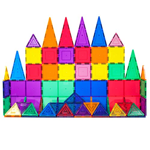 PicassoTiles 60 Piece Set 60pcs Magnet Building Tiles Clear Magnetic 3D Building Blocks Construction Playboards - Creativity Beyond Imagination, Inspirational, Recreational, Educational, Conventional (Best Way To Clean Marble Tile)