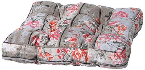 Madison 7FLORC311 Winnie Sitzkissen Florance mit Bändern 47 x 47 cm, 75% Baumwolle 25% Polyester, holz